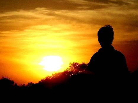 Akash At Sunset by Abhishek Acharya