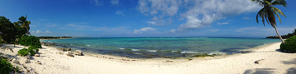 Akumal Sur Beach Panorama by Christopher Spicer