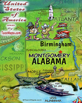Kevin Middleton - Alabama Fun Map
