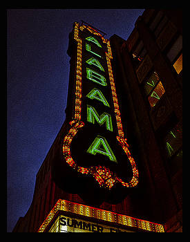 Alabama Lights Poster by Just Birmingham