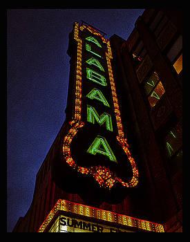 Alabama Lights Poster by Just Birmingham