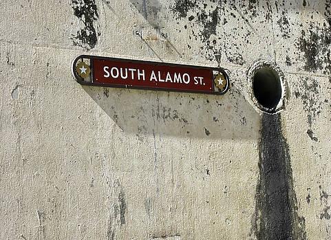 Alamo Riverwalk Sign Large Edition by Tony Grider