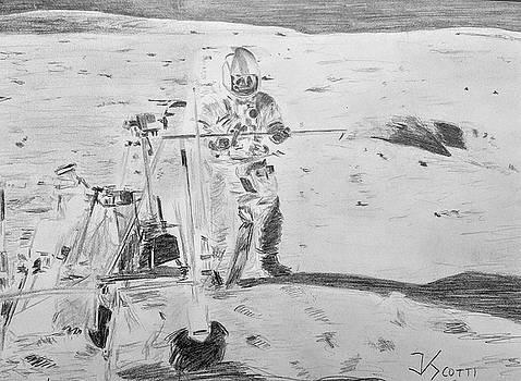 Alan Shepard, Apollo 14 by James Scotti