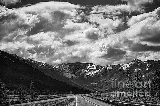 Alaska BW on the Road  by Chuck Kuhn