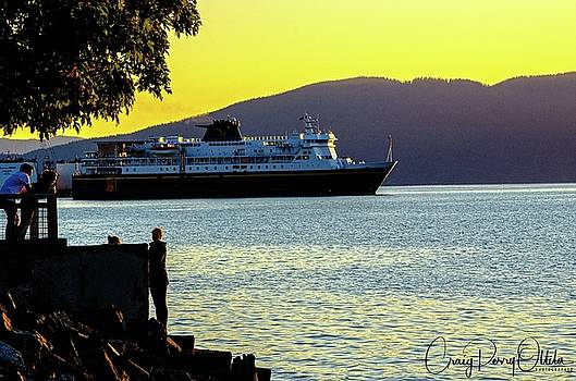 Alaska Ferry At Sunset by Craig Perry-Ollila