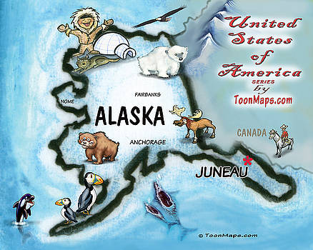 Kevin Middleton - Alaska Fun Map