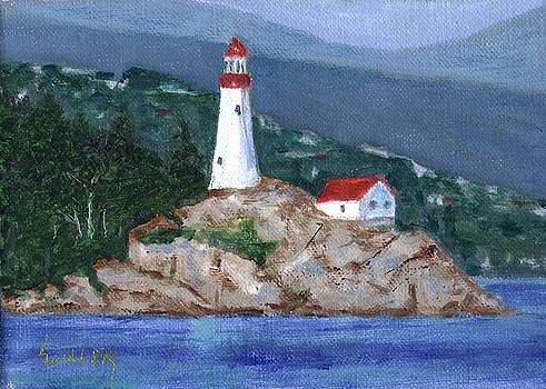 Alaskan Lighthouse by Linda Hiller