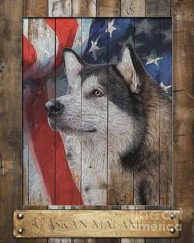 Alaskan Malamute Flag Poster by Tim Wemple