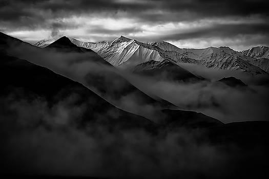 Alaskan Peak In The Shadows by Rick Berk