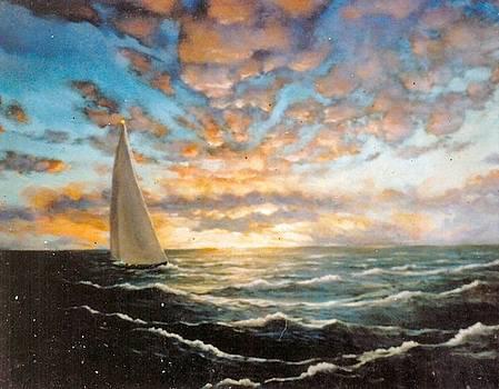 Alaskan Sunset by Leif Thor Kvammen
