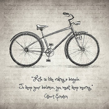 Zapista Zapista - Albert Einstein Bicycle Quote