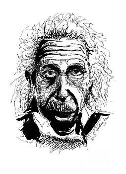 Albert Einstein drawing by Cristina Jaco