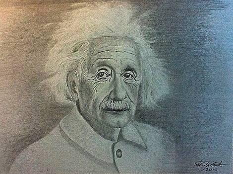 Albert Einstein Portrait by Robert Monk
