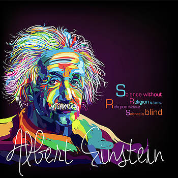 Albert Einstein by Sethu Madhavan