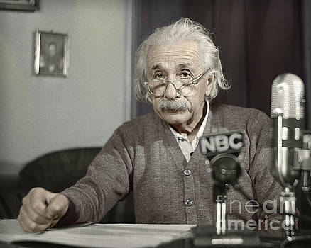 Albert Einstein's Warning by Martin Konopacki Restoration