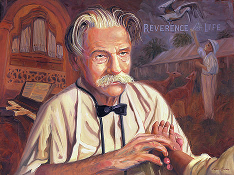 Albert Schweitzer by Steve Simon
