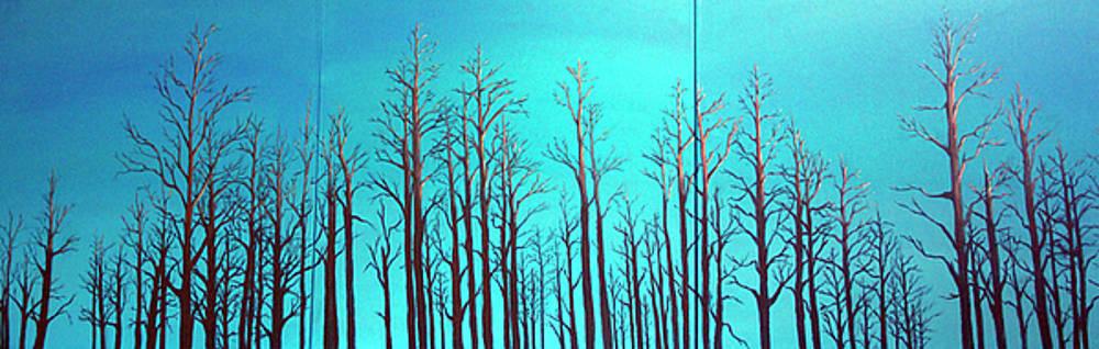 Alberta Blue Triptych by Joanne Giesbrecht