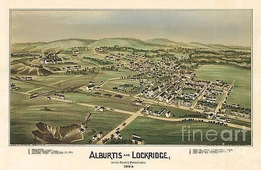 Fowler-Titchenal - Alburtis and Lockridge Pennsylvania Birdseye Print