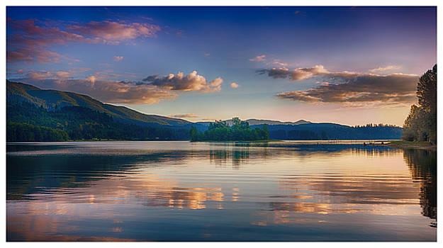 Alder Lake Sunset by Jason Butts