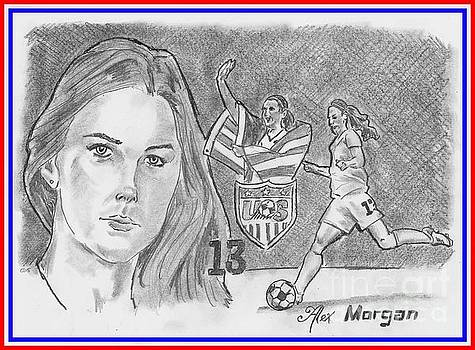 Alex Morgan by Chris DelVecchio