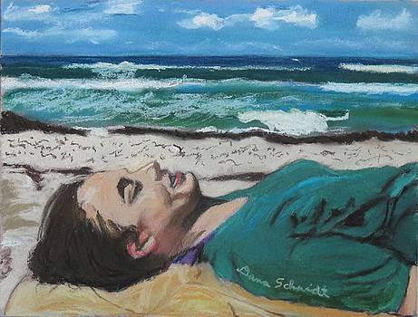 Granddaughter Alex at a Gulf Coast beach, Florida by Dana Schmidt