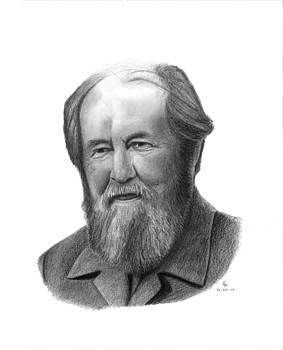 Alexander Solzhenitsyn by Charles Vogan