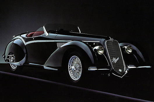 Alfa Romeo 8C 2900 Mercedes Benz by Karen Showell