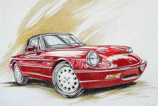 Alfa Romeo Spider Duetto by Federico De muro