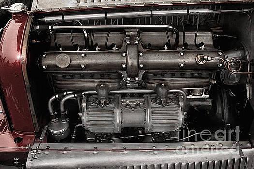 Alfa Romeo Typo B P-3 Engine  by Curt Johnson