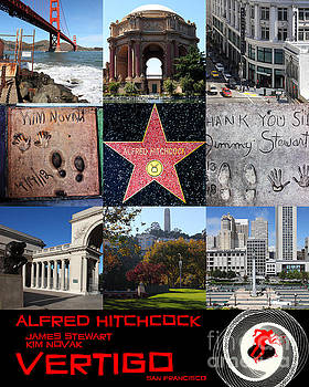 Wingsdomain Art and Photography - Alfred Hitchcock Jimmy Stewart Kim Novak Vertigo San Francisco 20150608 text black