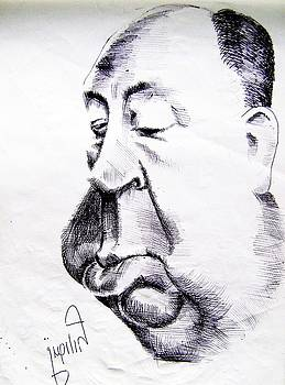 Alfred Hitchcock by Mehrdad Sedghi