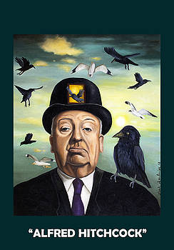 Leah Saulnier The Painting Maniac - Alfred Hitchcock with Lettering