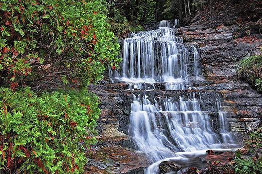 Alger Falls in Michigan's Upper Peninsula. by Larry Geddis