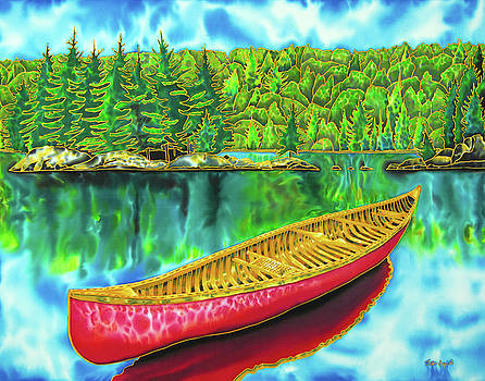 Algonquin Park - Red Canoe by Daniel Jean-Baptiste