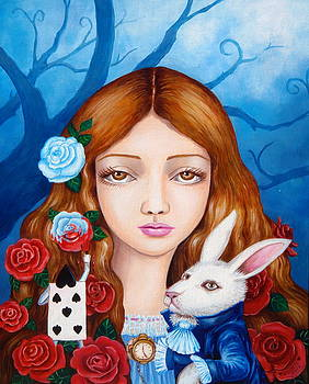 Alice And Red Roses by Edoen Kang