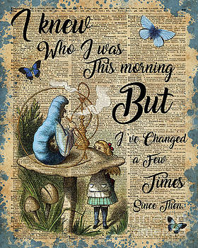 Alice in Wonderland Quote Vintage Dictionary Art by Anna W