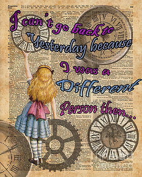 Alice In Wonderland Travelling in Time by Anna W