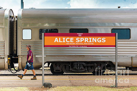 Alice Springs station by Andrew Michael