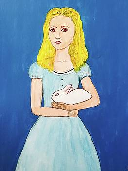 Alice With Bunny by Mela Lucia