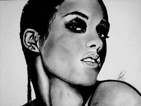 Alicia Keys Drawing by Keeyonardo