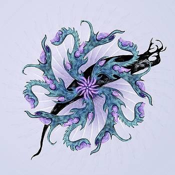 Alien Flower by Karen Renee