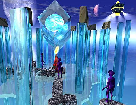 Alien Stonehenge by Martin Moon