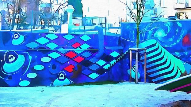 Alien streetart by Marco De Mooy