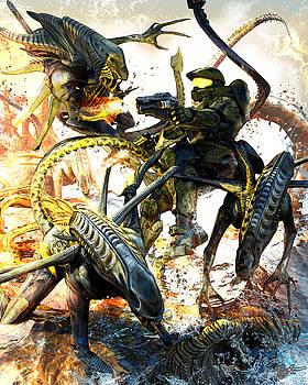 Aliens vs Halo by Kurt Miller