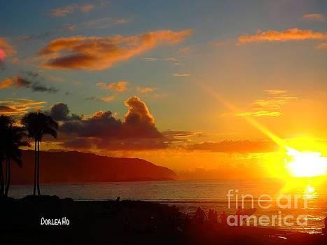 Alii Beach Sunset by Dorlea Ho