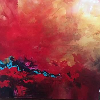 Alizarin Abstract by Karen Ahuja