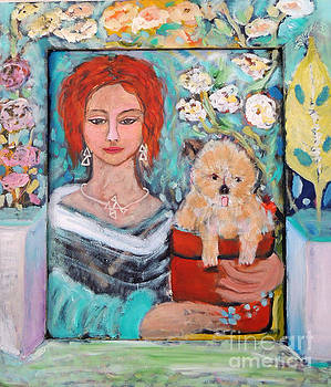 All I need is my dog and garden by Geraldine Liquidano