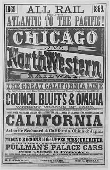 Chicago and North Western Historical Society - All Rail Chicago and North Western  Poster - 1869
