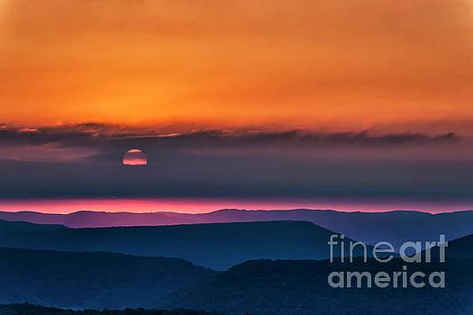 Allegheny Ridges at Sunrise by Thomas R Fletcher