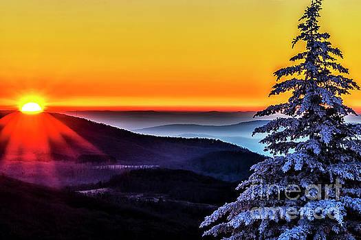 Allegheny Sunrise in Winter  by Thomas R Fletcher